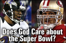 Does God care about the Super Bowl?