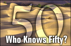 Who Knows 50?The distinguished number of transcendence.