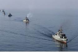 The U.S. Navy says envoys from 41 nations have gathered in Bahrain to begin drills in the Persian Gulf.