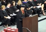 Crowd stunned after valedictorian rips up speech, recites Lord's prayer